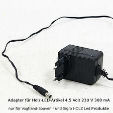 Netzteil für LED Schwibbogen Lichterbogen mit 1,7 Meter Kabel 4,5 Volt NEU 70261