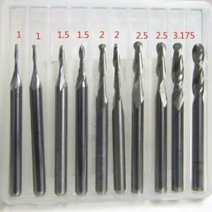1Set 1-3.175mm shank carbide ball nose end mill CNC engraving router bit seHDH2