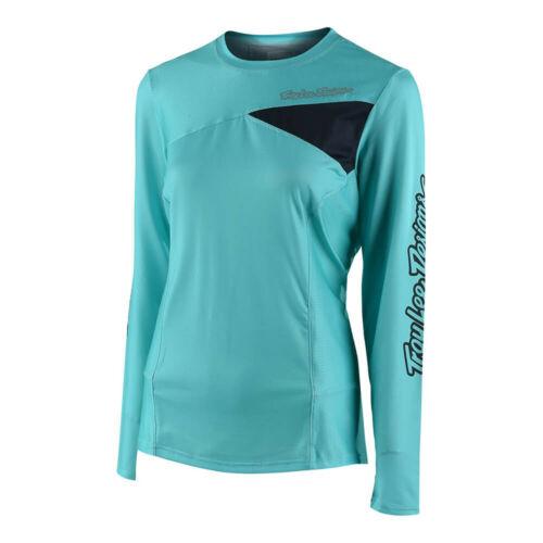 Troy Lee Designs Skyline Womens Long Sleeve Bicycle Jersey Blue
