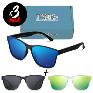 Tris occhiali da sole TWIG Pack BRETON uomo/donna UV400 sport fashion