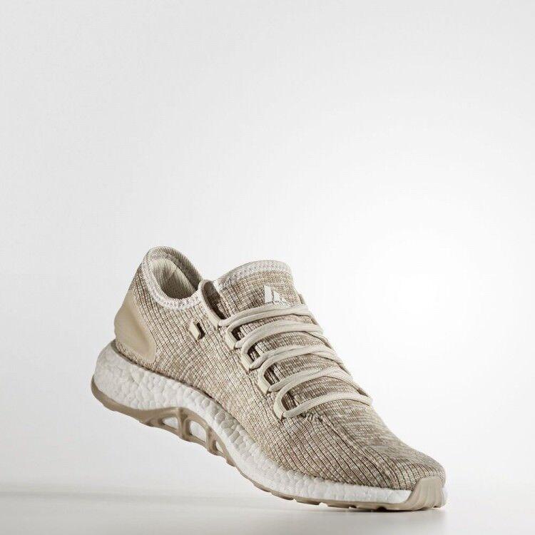 Adidas Pure Boost Clima, talla 12 para hombre, mediano, beige, BA9057 NUEVO