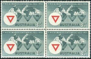 Australia-1955-SG286-3-d-YMCA-Centenary-block-MNH