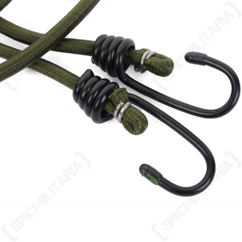 Pack of 2 Elastic Cords Straps Outdoors New Olive Drab 75 cm Bungees