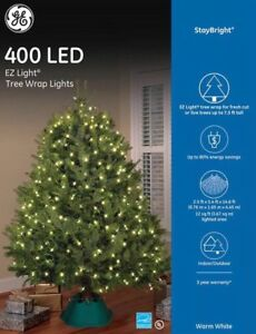 Ge Christmas Tree Lights.Details About Ge Staybright Warm White Led Mini Christmas Tree Net Lights 400 Indo