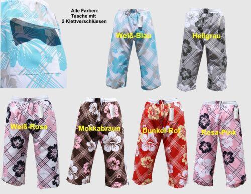 Bermuda Cargo Pantaloncini Da Bagno Costume HERREN UNISEX BIANCO ROSA IN L