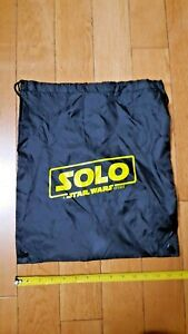 STAR-WARS-SOLO-Movie-Opening-Night-avec-cordon-de-serrage-sac-swag-Sports-RARE