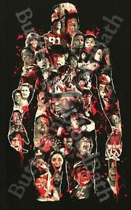 Details about Friday the 13th Victims T-Shirt Fright Rags Midnight Madness  24 Hour Sale Jason