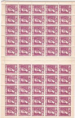 1930 - Spanien - Edifil 502 - Spezifikation 50 Briefmarken - 5 Ctmos Lila - Mnh Schmerzen Haben