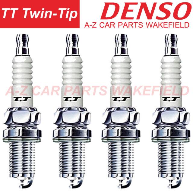 4x opel astra g 1.6 16V genuine denso twin tip tt spark plugs