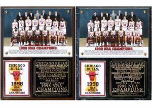 445980d08f3 Chicago Bulls 1998 NBA Champions Photo Plaque Michael Jordan Pippen ...
