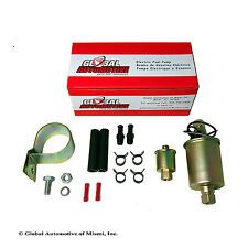 NEW GLOBAL AUTOMOTIVE UNIVERSAL ELECTRIC FUEL PUMP WITH INSTALLATION KIT GA8012S