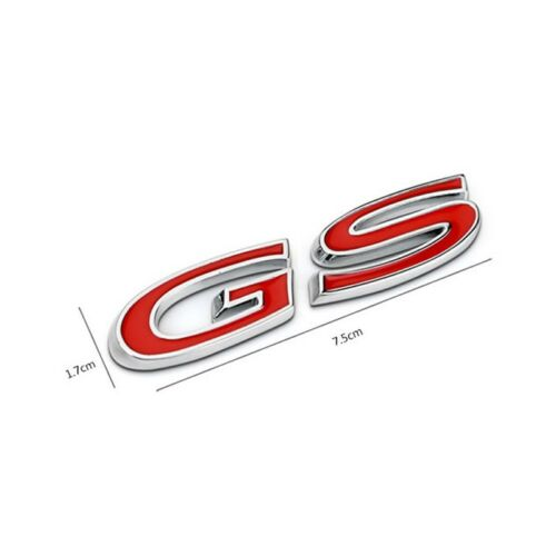 Red GS Styling Car Body Rear Back Emblem Badge Sticker for Buick REGAL Vehicle