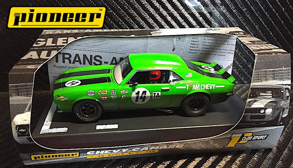 Pioneer Green 1968 Chevrolet Camaro hr Enduro DPR 1 32 Scale Slot Car P044