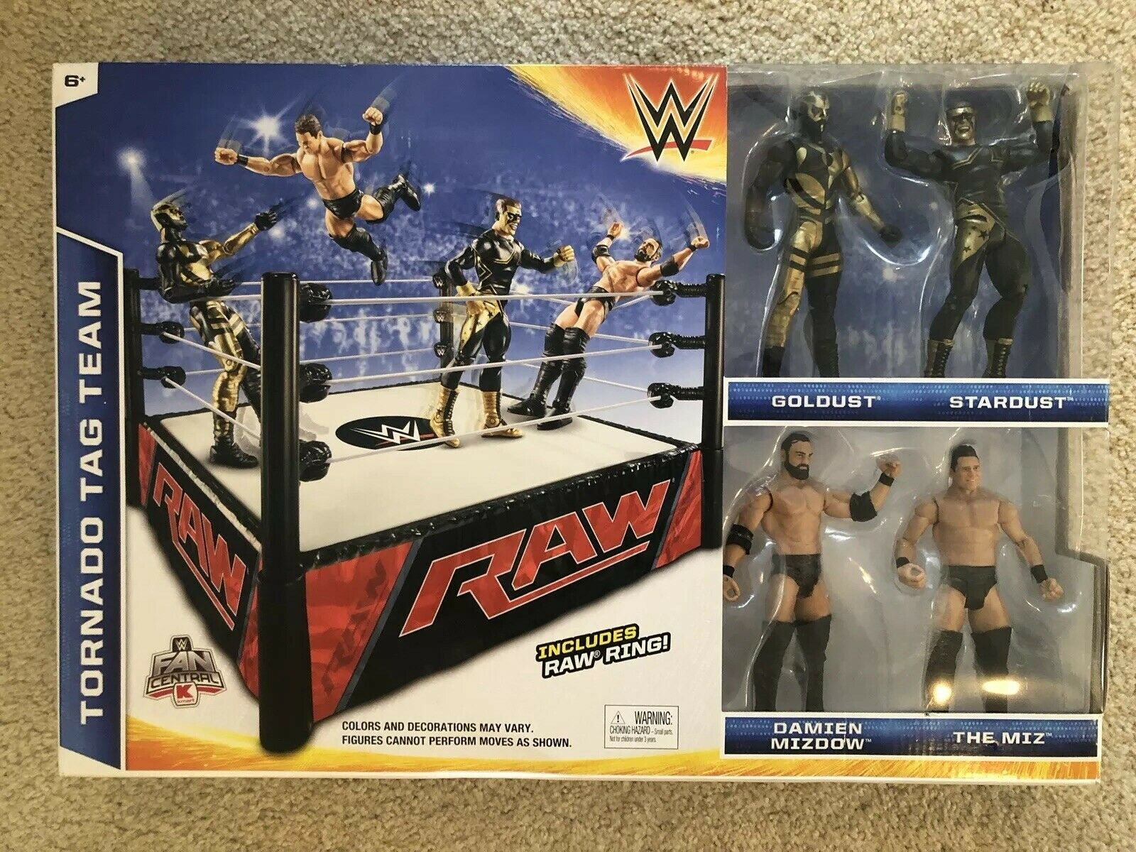 WWE Tornado Tag Team Raw  bague avec orust, Stardust mizdow & Zim  Neuf en boîte 2015 rare  promotions d'équipe