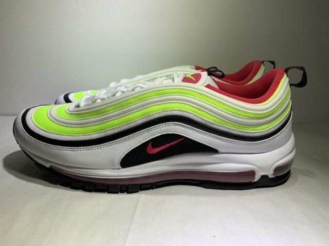 Nike Air Max 97 White Black Volt Rush Pink Ci9871 100 Men's Size 7