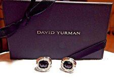 David Yurman  SS  & 14K 10MM Black Onyx  & Diamonds Labyrinth Earrings