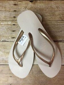 341ea69f90a0 Havaianas Gold Beige High Platform Wedge Sandal Flip Flops Women s ...