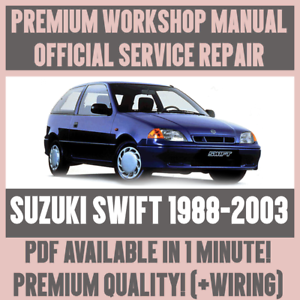 workshop manual service repair guide for suzuki swift 1988 2003 rh ebay co uk 2000 Suzuki Swift 2000 Suzuki Swift