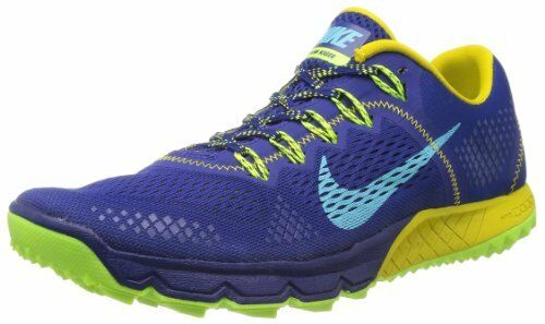 Nike Zoom Terra Kiger Shoes (8) Royal Blue / Bright Citron