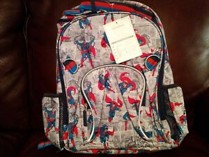 Pottery Barn Kids Superhero Superman Large Backpack NWT