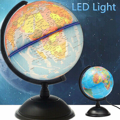33cm World Globe for Home Desk Decoration Geography Educational Toys White