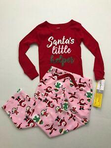 65667562d NWT Carter s 12 Months 4T Santa s Little Helper Top Fleece 2 PC Set ...
