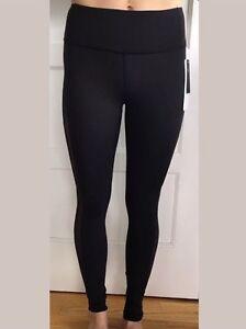 Lululemon-Size-4-Smooth-Stride-Tight-Black-BLK-Luxtreme-Yoga-Pant-Mesh-Run
