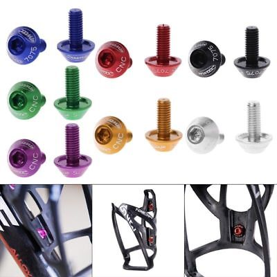 2Pcs M5x12mm Cycling Bike Bicycle Water Bottle Cage Bolt Holder Bracket Screw LJ