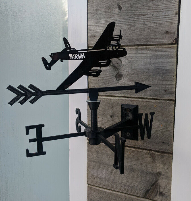 The Mighty Lancaster Bomber Acrylic Garden Weather Vane Wall, Pole or Post Mount