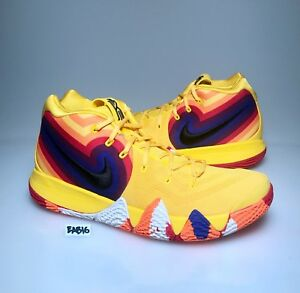 8c6e03aa511e Nike Kyrie Irving 4 70s Yellow Orange Blue 943807-700 Mens   Kids GS ...