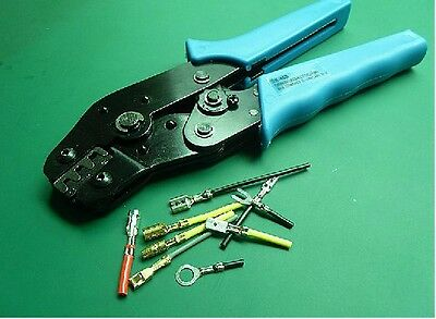 Crimping Tool 3.96//4.8//5.08//6.3mm Grounding Terminal Connector 26-16 AWG Crimper