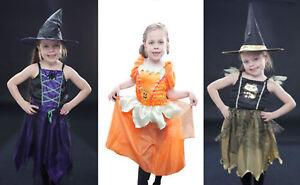 HALLOWEEN PUMPKIN CAT WITCH GIRLS FANCY DRESS PARTY TRICK OR TREAT SPOOKY SCARY