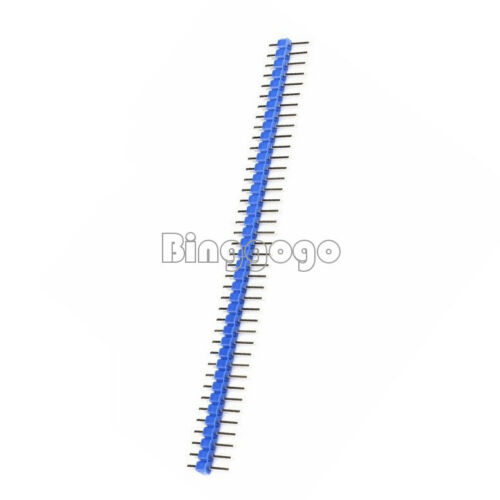10PCS 40Pin 1x40P Male 2.54mm Breakable Pin Header Strip 40P Blue Color NEU