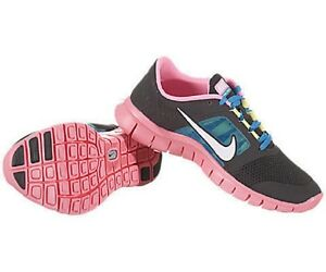 new product d87f3 a917a Image is loading NIKE-Free-Run-3-GS-Dark-Gray-Pink-