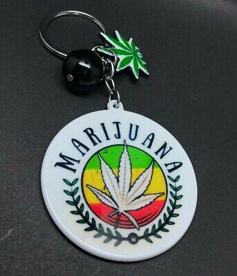 New Weed Marijuana Cute Heart Set Best Buds Gold Keychain Friends Gift