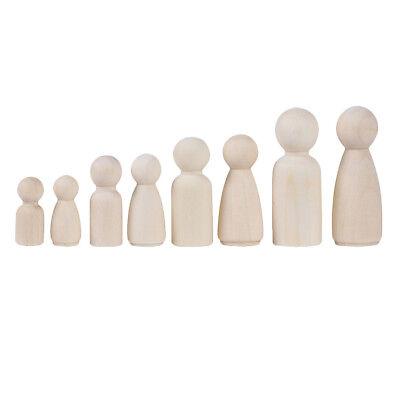 35 mm Wood People Peg Dolls 40 x Unfinished Wood Doll Bodies Women /& Men