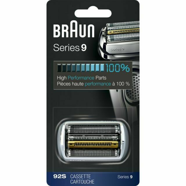 Braun 92S Series 9 Replacement Shaver Head - Silver 100% ORG