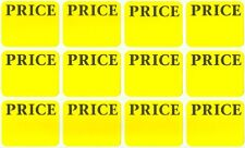 800ct of Pricing Labels Price Tag Removable Adhesive Rectangular Yellow Sticker