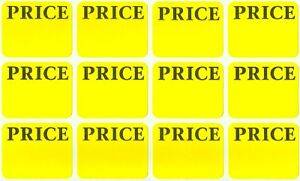 300 yellow price labels removable adhesive price tag sticker label