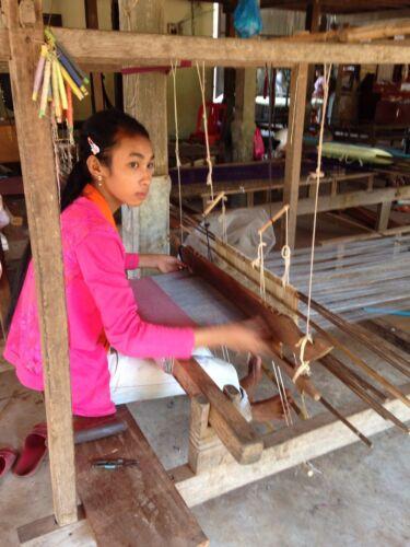 R Et B Foulard Krama Authentique Cambodge par Association Humanitaire 170x65cm