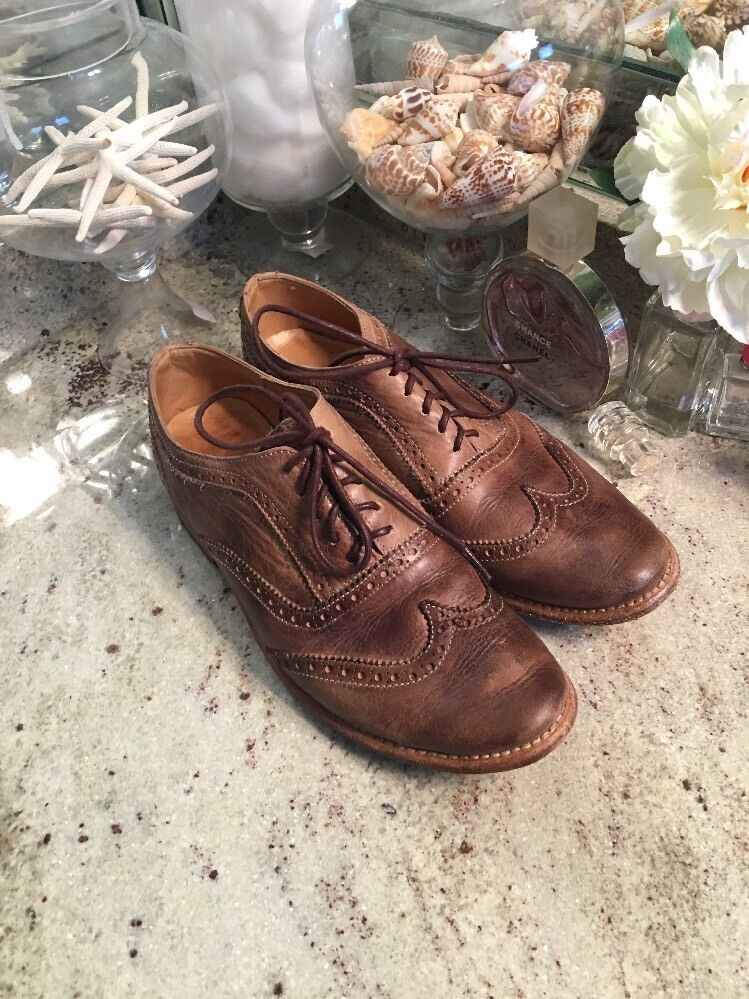 Bed Stu Mens Beacon Lace-Up Loafer - Tawny Zone US Size 10 Tan Brown Wingtip