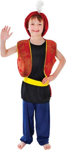 Arabic Genie Aladdin Boy Fancy Dress Costume Kids Book Week Complete Outfit UK