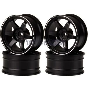 """1.9/"""" Aluminum Wheel Rims Offsets 9mm For 1//10th RC On-Road Drift Car Truck 1072"""