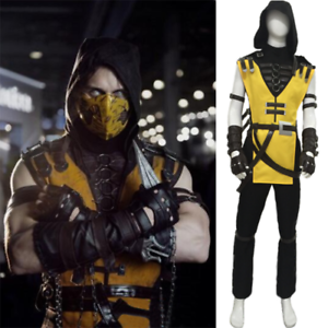 Mortal Kombat X Scorpion Cosplay Costume Custom Made Free Shipping