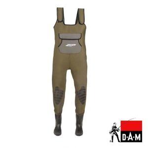 Angelsport Bekleidung Dam Fighter Pro Neopren Wathose 4mm Mit Gummistiefel Gr.44/45