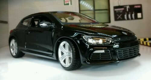 LGB 1:24 Scale Black VW Scirocco 2.0 GT R DSG Coupe Burago Detailed Model 21060