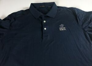 Troon-North-Polo-Shirt-Mens-XL-Dark-Blue-Navy-Soft-Supima-Cotton-Golf-Course