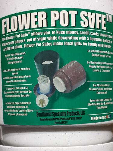Blumentopf mit Versteck Versteckdose Geheimversteck Geldversteck Safe weiß /%/%/%