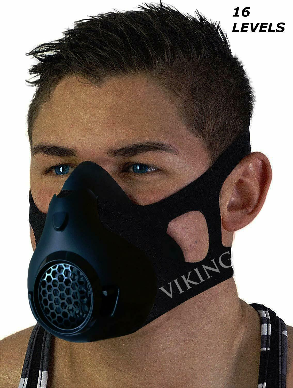 Vikingstrength Training Workout Mask for Running Biking MMA Endurance with Ad...