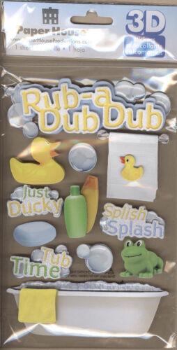 """/""""Frote Un Dub/"""" En 3d Stickers-Paper House Productions"""